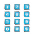 number icon set vector image vector image