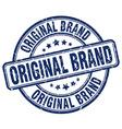 original brand blue grunge round vintage rubber vector image