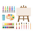 painting art tools vector image