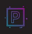 parking icon design vector image vector image