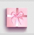 pink gift box isolated object realistic 3d vector image