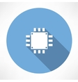 Processor Icon vector image vector image