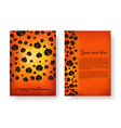 rectangle notepad with pumpkins for halloween vector image