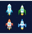 Rocket icons vector image vector image