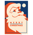 santa claus with beard minimalistic vector image vector image