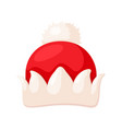 santa hat icon christmas clothing traditional vector image vector image