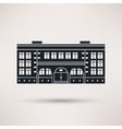 School The building is an icon flat vector image
