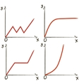 Set of different function graphs vector image
