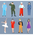 Set of people different professions cook soldier vector image