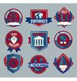 set university and college school badges vector image vector image