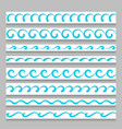 set wavy border ornaments vector image