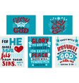 set with hand lettering bible verse glory to god vector image