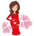 shower card with happy pregnant woman vector image vector image