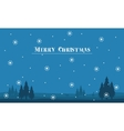 Silhouette of hill scenery Merry Christmas with vector image vector image
