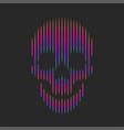 skull artwork fashion t-shirt print emblem vector image vector image