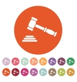The judge or auction hammer icon Justice symbol vector image