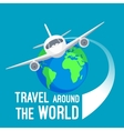 travel around world fast means of vector image