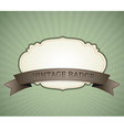 vintage badge vector image