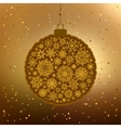 Vintage card with golden Christmas ball EPS 8 vector image vector image
