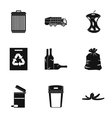 Waste icons set simple style vector image vector image