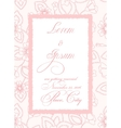wedding invitation with torn paper banner vector image vector image