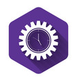 white time management icon isolated with long vector image vector image