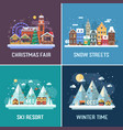 Winter Travel Landscapes vector image