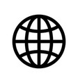 globe symbol planet earth or internet browser vector image