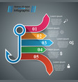 hook business infographic vector image