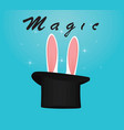 rabbit ears and cylinder vector image