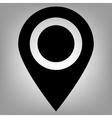 Locator flat icon vector image