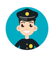 police oficer icon vector image