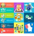 Set of business banners vector image