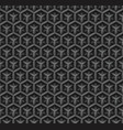 3d industrial black diamond seamless pattern vector image
