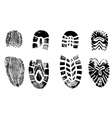 4 Isolated BootPrints - Highly detailed of walking vector image