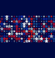 abstract background from red blue white stars vector image