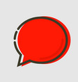 abstract flat red chat icon vector image vector image
