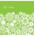abstract green and white circles horizontal frame vector image vector image