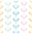 Abstract textile colorful vines leaves seamless vector image