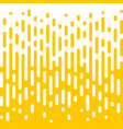 abstract yellow line halftone liquid background vector image vector image