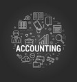 accounting service - round concept vector image vector image