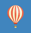 air vehicles hot air balloon in sky with clouds vector image