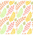 autumn leaves seamless pattern bright texture can vector image vector image