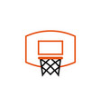 basketball ring icon design template isolated vector image vector image