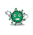 bat coronavirus cartoon character with happy face