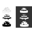 big wedding or birthday cake vector image