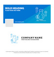 blue business logo template for money bag dollar vector image