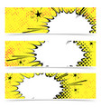 bright yellow pop art explosion emotion cloud vector image vector image