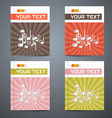 Brochure Cover Design Template Set with Note - vector image vector image