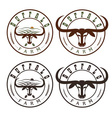 buffalo farm vintage labels set vector image vector image